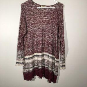 One World Knitted Light Weight Sweater. SZ 1X.